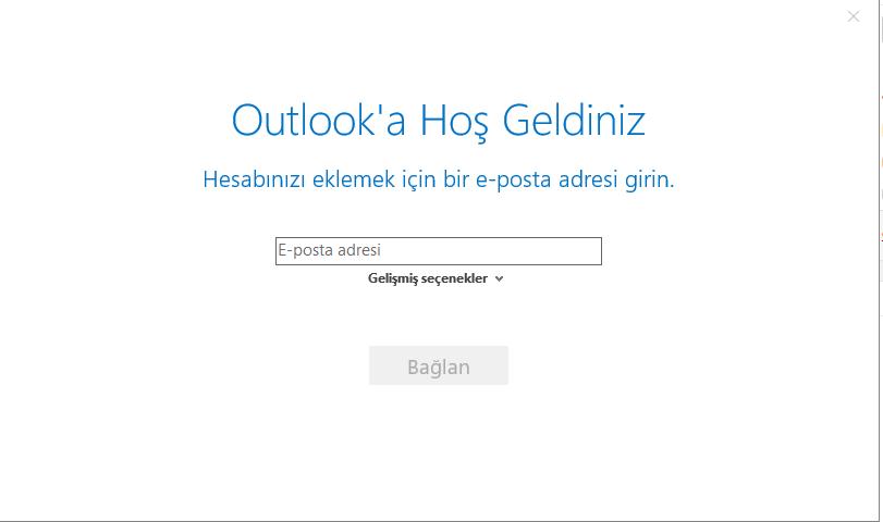 Outlook mail yapılandırma